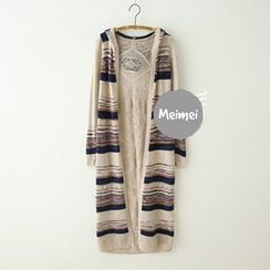 Meimei - Hooded Long Cardigan