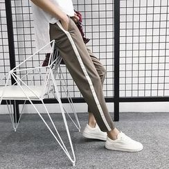 JUN.LEE - Contrast Trim Sweatpants