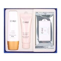O HUI - Perfect Sun Blue Special Set A : Perfect Sun Blue SPF30 PA++ 50ml + Miracle Moisture Cleansing Foam 40ml + Clear Science Tender Cleansing Sheet 1pack