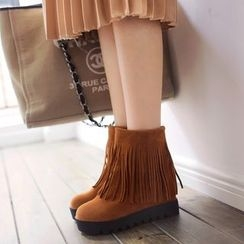 Pangmama - Fringed Ankle Boots