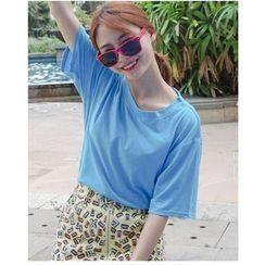 HazyDazy - Short Sleeve Plain T-Shirt