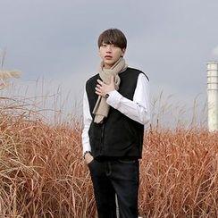 Seoul Homme - Reversible Faux-Shearling Zip-Up Vest