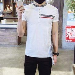 Evzen - Short Sleeve Buttoned T-Shirt