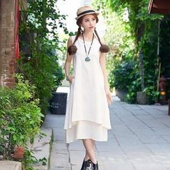 Diosa - Layered Maxi Tank Dress