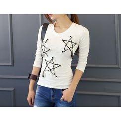 DANI LOVE - Star Patterned T-Shirt