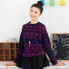 59 Seconds - Long-Sleeve Pattern Top