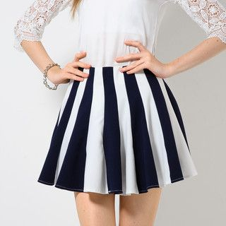 YesStyle Z - Stripe Flared Skirt