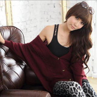 Tokyo Fashion - Batwing-Sleeve Cable-Knit Cardigan