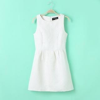 Flower Idea - Jacquard Sleeveless Dress