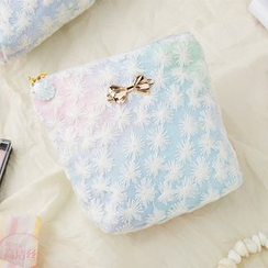 Cottoncraft - Bow Accent Gradient Sanitary Pad Pouch