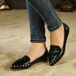 Mancienne - Studded Pointy Flats