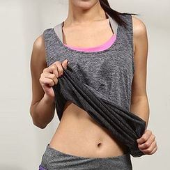 FAYE - Sports Tank Top / Set: Sports Bra + Tank Top