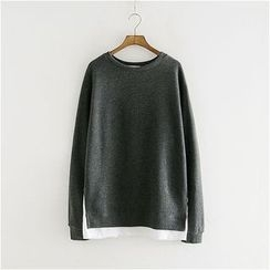 Storyland - Inset Top Fleece-Lined Pullover