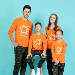 Panna Cotta - Striped Long Sleeve Family Matching T-Shirt