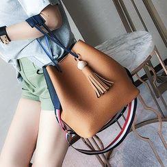 Youshine - Tasseled Bucket Bag