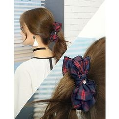 soo n soo - Plaid Bow Hair Clamp