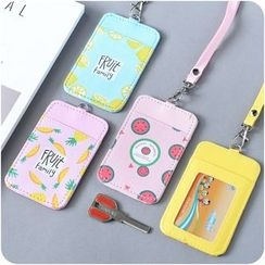 Desu - Fruit Print Card Holder with Neck Strap