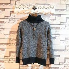 Sundipy - Turtleneck Melange Sweater