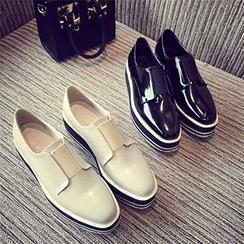 Siya - Platform Glitter Loafers