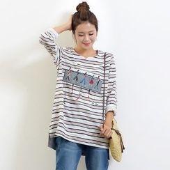 Waypoints - Applique Stripe Long-Sleeve T-shirt