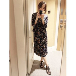 maybe-baby - Floral Print Wrap Dress