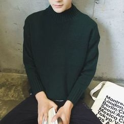 JUN.LEE - Mock-neck Knit Top