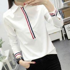lilygirl - Striped Applique Shirt