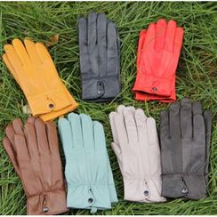 Fow Fow - Plain Genuine Leather Gloves