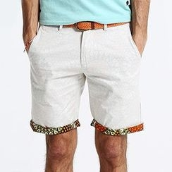Simwood - Printed Trim Shorts