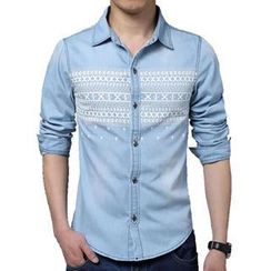 Gurun Vani - Print Washed Denim Shirt