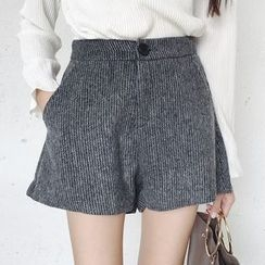 Dute - Woolen Wide Leg Pants