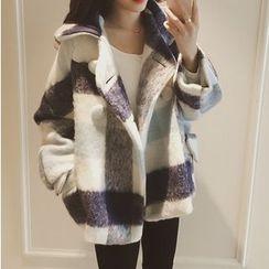 SMA - 双排扣格子夹克