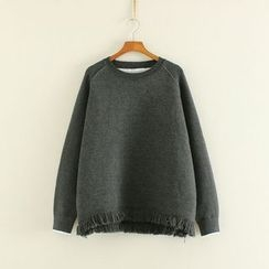 Mushi - Fringe Trim Sweatshirt