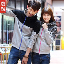 Igsoo - Matching Couple Hooded Jacket