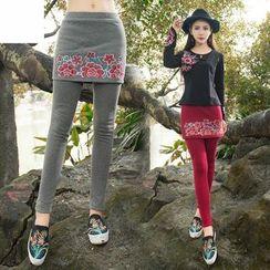 Diosa - Inset Skirt Leggings