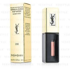 Yves Saint Laurent 伊夫聖羅蘭 - Rouge Pur Couture Vernis A Levres Pop Water Glossy Stain - #208 Wet Nude