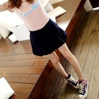 Tokyo Fashion - Bow-Accent Puff-Hem Culottes