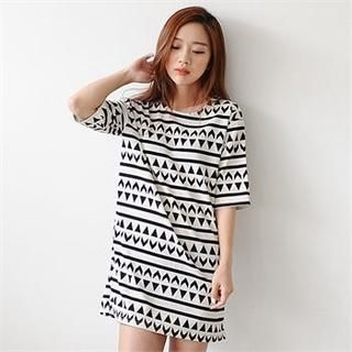 PENNY BY - Patterned Shift Dress
