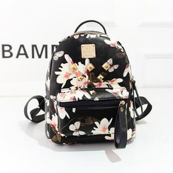 Bibiba - Studded Floral Backpack