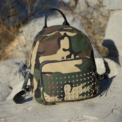 ETUU - Studded Camouflage Backpack
