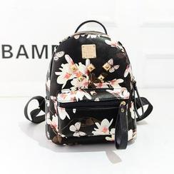 Bibiba - Studded Floral Backpack