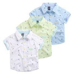 WellKids - 小童短袖印花衬衫