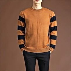 THE COVER - Crew-Neck Rugby-Stripe Sweater