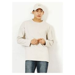 HOTBOOM - Cotton Plain T-Shirt