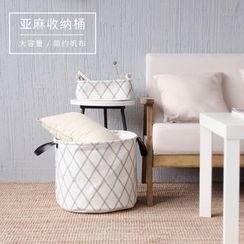 Cutie Bazaar - Printed Canvas Laundry Basket