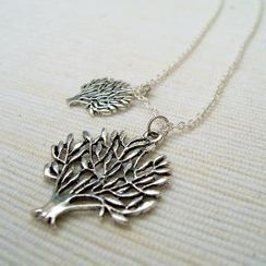 MyLittleThing - Silver Double Trees Necklace