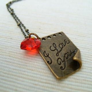 MyLittleThing - I Love You Letter Necklace