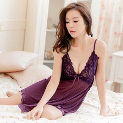 Charming Lover - Lace Nightdress With Panties