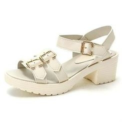 MODELSIS - Buckled Velcro Platform Sandals