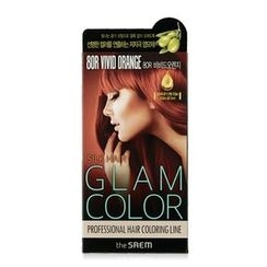 The Saem - Silk Hair Glam Color Cream (#8OR Vivid Orange)